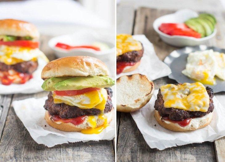 гамбургер с яйцом рецепт