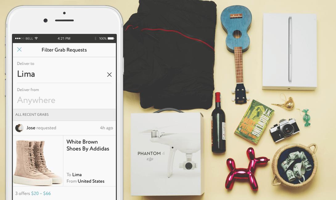 Установите приложение Grabr и оно поможет вам заработать в путешествии