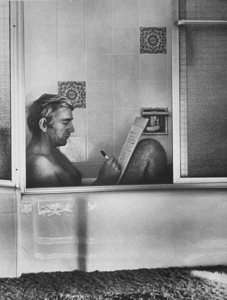 тип в ванной
