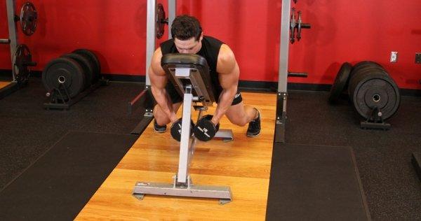 упражнения на плечи с гантелями, фото