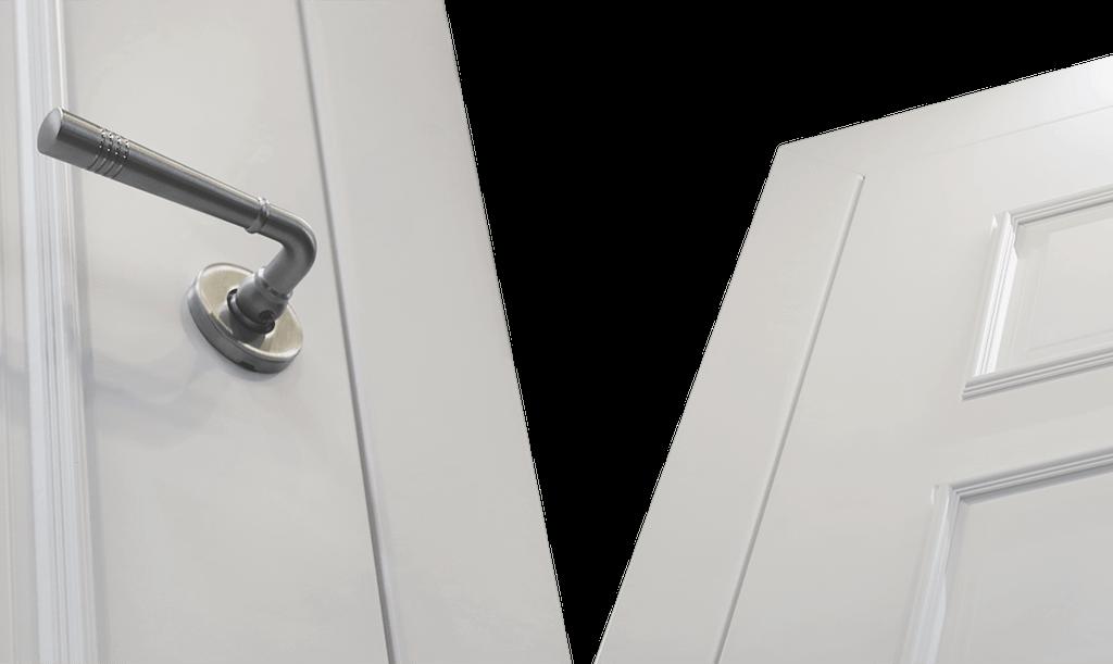 Межкомнатные двери «Ламира» Покрытие — белая эмаль
