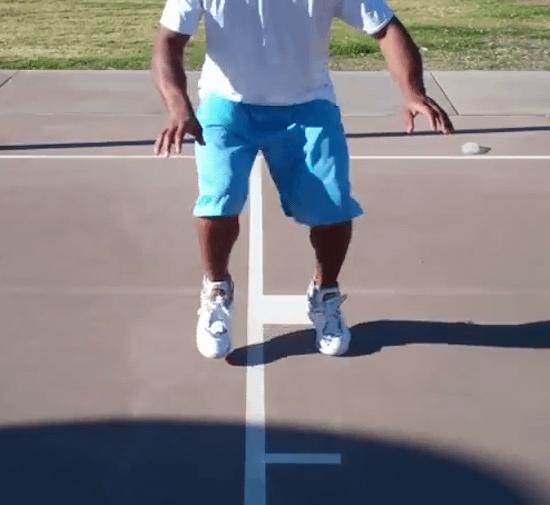 бег на месте на ноках