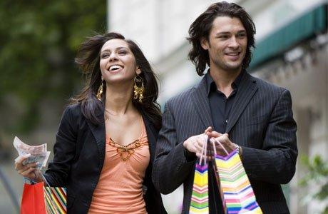шоппинг с девушкой