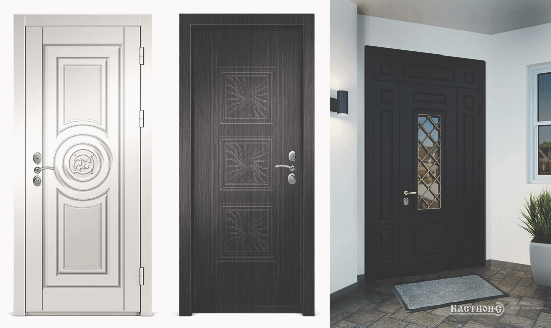 Дверь в дом из металла