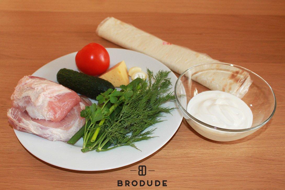Ингредиенты для приготовления шаурмы своими руками, фото brodude